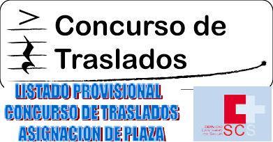 CONCRUSO DE TRASLADOS LISTADO PROVISIONAL