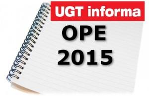 OPE 2015 MODELO UGT