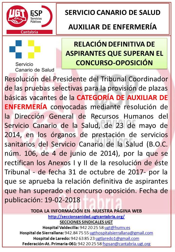 SERVICIO CANARIO AUX ENF