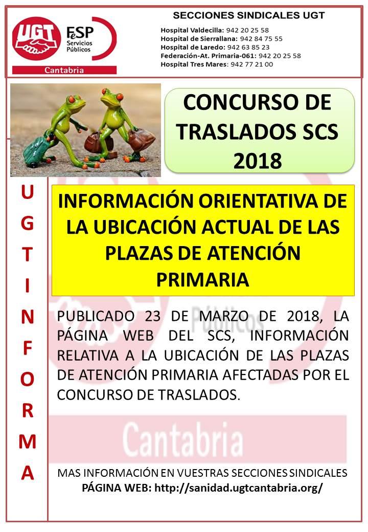 traslados 2018 plazas ORIENTATIVAS