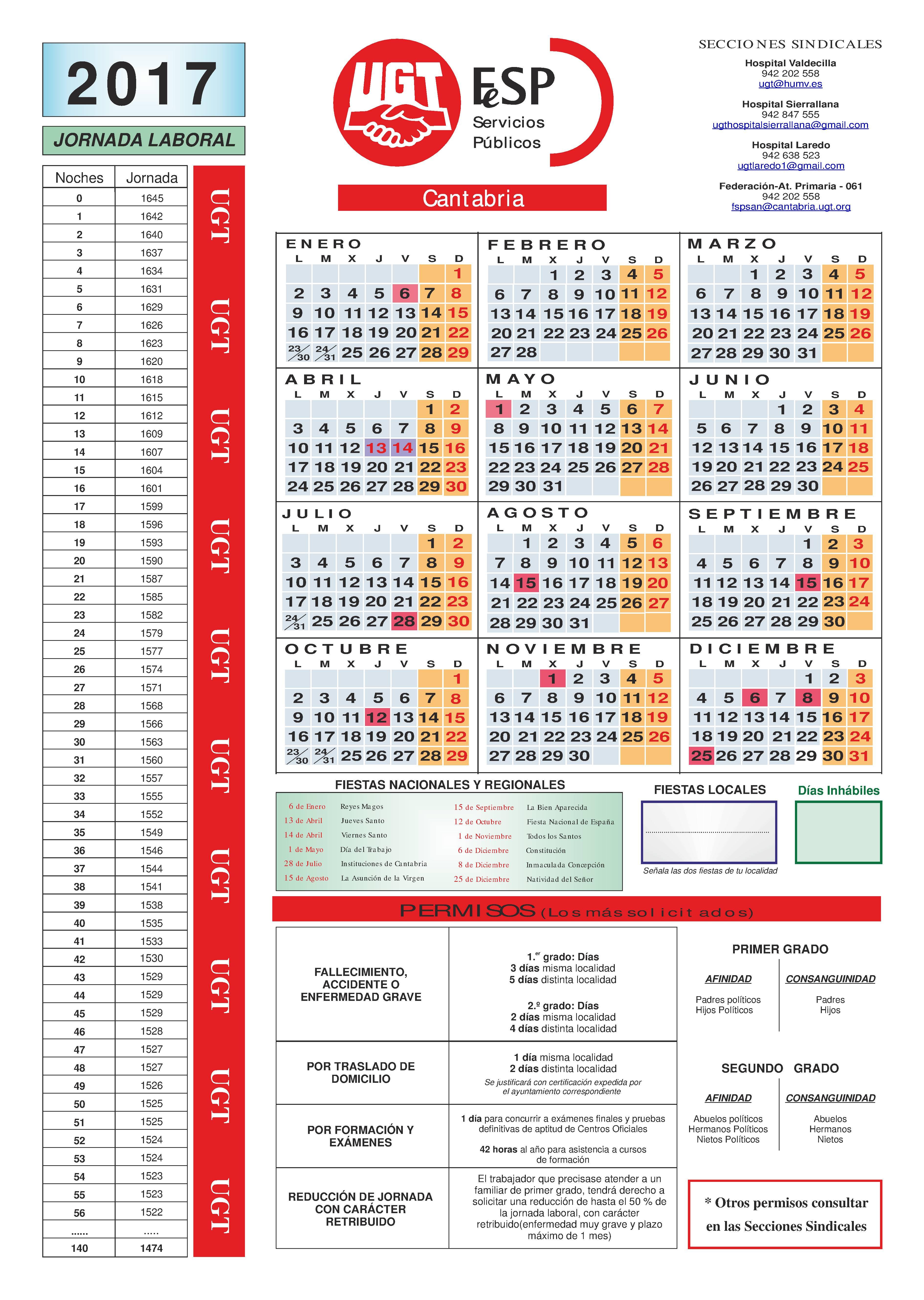 calendario-laboral-2017-ugt-sanidad