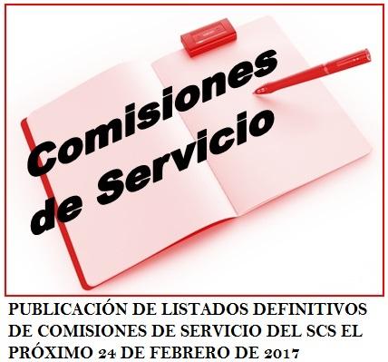comision servicio