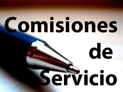comisiones servicio